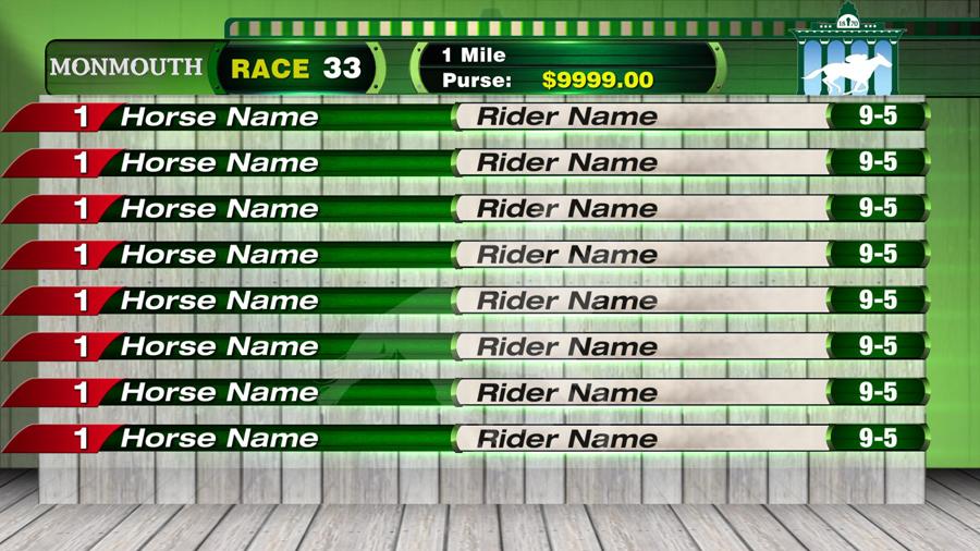 Monmouth Race Track Field Slate
