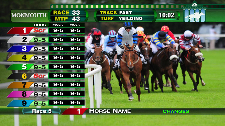 broadcast sports design Monmouth Race Track