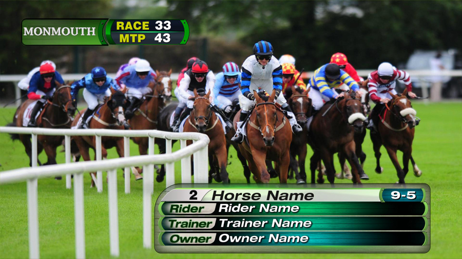 broadcast design package Monmouth Race Track